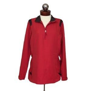 New NIKE windproof 1/4 zip windbreaker jacket M